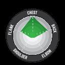Chest protector 4.5 Org/Wht #Jr 134-146cm