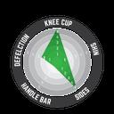 Knee Guard 3DF 5.0 Zip Blk #L/XL