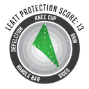 Knee Guard 3DF 5.0 Zip Fuel/Blk #L/XL