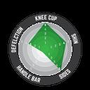 Knee Guard 3DF Hybrid Wht/Blk #L/XL